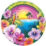 Luau Party Lunch Plates (8/pkg)