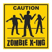 Zombie Crossing Cutout