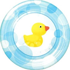 Splish Splash Rubber Duckie Lunch Plates (8/pkg)