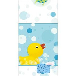 Splish Splash Rubber Duckie Tablecover, 1/pkg, Size: 54 inches x 102 inches