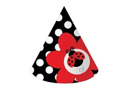 Ladybug Party Hats (8/pkg)