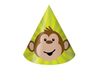 Monkey Party Hats (8/pkg)