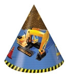 Under Construction Party Hats (8/pkg)