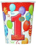 1st Birthday Hot/Cold Cups (8/pkg)