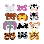 Foam Animal Masks (12/pkg)