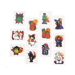Glittered Halloween Tattoos (24/pkg)