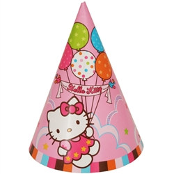 Hello Kitty Party Hats (8/pkg)