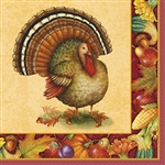 Festive Turkey Luncheon Napkins (16/pkg)