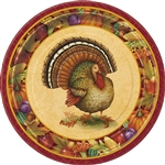 Festive Turkey Luncheon Plates (8/pkg)