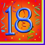Lively Birthday 18th Lunch Napkins (16/pkg)