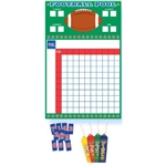 Football Pool Game with Ribbons is the perfect game day party accessory. Playing instructions are included, along with award ribbons and scorecard. Accommodates 2 to 100 players! Keep your guests on the edge of their seats until the very end of the game!