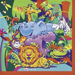 Smiling Safari Lunch Napkins (16/pkg)