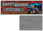 Monster Truck Giant Banner with Stickers