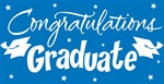 Blue Congratulations Graduate Gigantic Sign