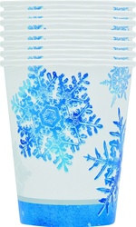 Snowflakes Hot/Cold Cups (8/pkg)