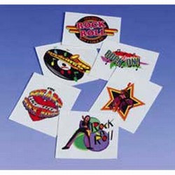 Rock N Roll Tattoos (144/pkg)