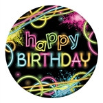 Happy Birthday Glow Plates