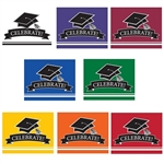 These colorful graduation invitations come in several different colors to co-ordinate with the graduate's school colors. 25 invitations with color matching envelopes are included in each package. Invitations measure 4 x 6.