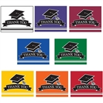 After the party is over, be sure to send your guests a Graduation Thank You Note! Choose your school color, and you'll receive 25 colorful notes and 25 color coordinated envelopes. Cards are blank inside, and printed in color front and back.