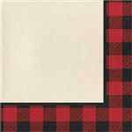 These Buffalo Plaid Luncheon Napkins are an excellent party supply and they work well for many party themes. The red and black buffalo plaid border adds another level of creativity to these napkins. Comes sixteen 2-ply napkins per package.