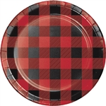 Whether  serving up cake, or some simple finger foods, they will look fantastic on one of these Buffalo Plaid Dessert Plates. Each plate measures 6-7/8 inches and features an classic red and black checked design. Comes eight plates per package.