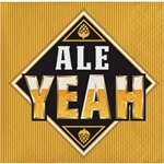 The Ale Yeah Beverage Napkins will protect your tables from water marks. Each 2-ply paper napkin is printed with the phrase Ale Yeah. Perfect for beer tastings, Oktobefest, or backyard barbecues. 16 beverage napkins per package.