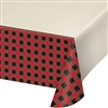 Add a little, OK, maybe plenty of red and black by decorating the tables with this Buffalo Plaid Tablecover! It's made of plastic and measures 54 inches by 102 inches. Just open the package, spread it out and cover your table! Comes one per package.