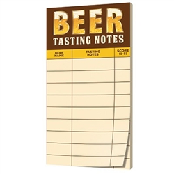 The Beer Tasting Scoring Sheet features a pad of 30 pages where you can write down your specific tasting notes for up to nine beer samples. Printed on one side. Each sheet measures 4 inches by 8 inches. One pad per package.