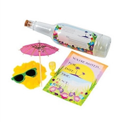 Tropical Invitation In A Bottle (1/pkg)