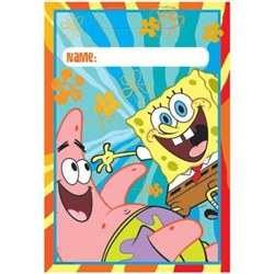 Spongebob Party Loot Bags (8/pkg)