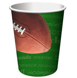 Football Party Hot/Cold Cups (8/pkg)