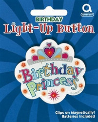 Birthday Princess Flashing Pin