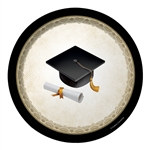 Cap & Gown Luncheon Plates