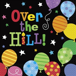 Over the Hill Balloons Lunch Napkins (16/pkg)