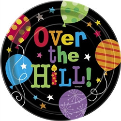 Over the Hill Balloons Dessert Plates (8/pkg)