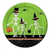 Dancing Skeleton Lunch Plates (8/pkg)