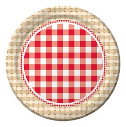 Patriotic Picnic Lunch Plates
