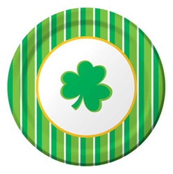 Shamrockin' Stripes Luncheon Plates (8/pkg)