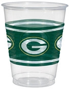 Green Bay Packers Plastic Cups (25/pkg)