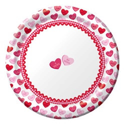 Valentine Sweet Greetings Luncheon Plates (8/pkg)