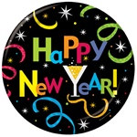 New Year Jazz Lunch Plates (8/pkg)