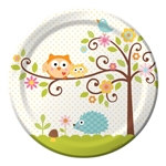 Happy Tree Lunch Plates (8/pkg)