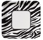 Zebra Print Lunch Plates