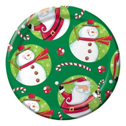 Polka Dot Christmas Dinner Plates (8/pkg)