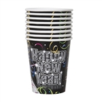 These Countdown to New Year's Cups feature a vibrant, colorful design and can hold hot or cold liquid. Whether you want a warm cup of hot cocoa or some cold eggnog, this cup is perfect for the occasion. Comes eight cups per package.