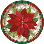 These Poinsettia Plaid Dinner Plates are slightly larger than the dessert plates, which means you can get more food on this one! It features the same red and green plaid design and poinsettia that you know and love. Comes eight plates per package.
