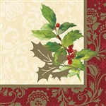 These 2-ply napkins feature an elegant red and washed gold border for that touch of sophistication to fit your tablescape. Comes 16 napkins per package.