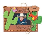 Foam Western Photo Frame Magnet Craft Kit (12/pkg)