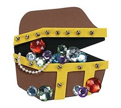 Foam Treasure Chest Magnet Craft Kit (12/pkg)