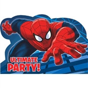 Spider-Man Party Invitations (8/pkg)